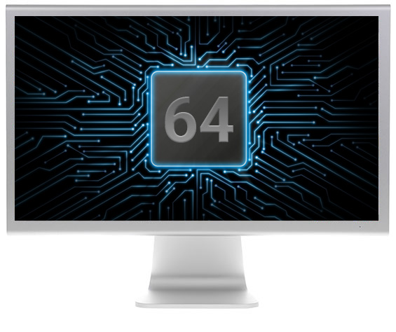 Computer monitor with 64bit chip
