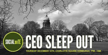 IndigoVision's CEO To Sleep Out And Raise Money For Scotland's Homeless With Social Bite