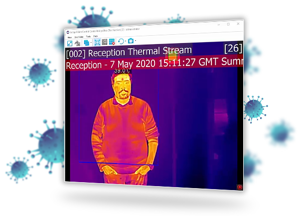IndigoVision Control Center thermal temperature detection