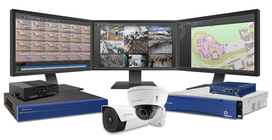 Image showing Indigovision's surveillance hardware and software management in action