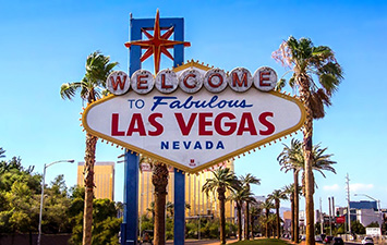 Las vega city welcome sign