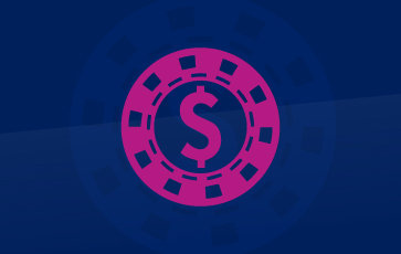 Casinos Surveillance Pink Icon With Casino Chips