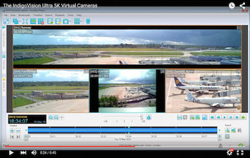 airport surveillance systems in action screen capture image of Birmingham airport