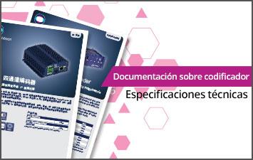 Documentación sobre codificador - Especificaciones técnicas