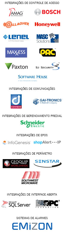 Integrations logo list - Portuguese